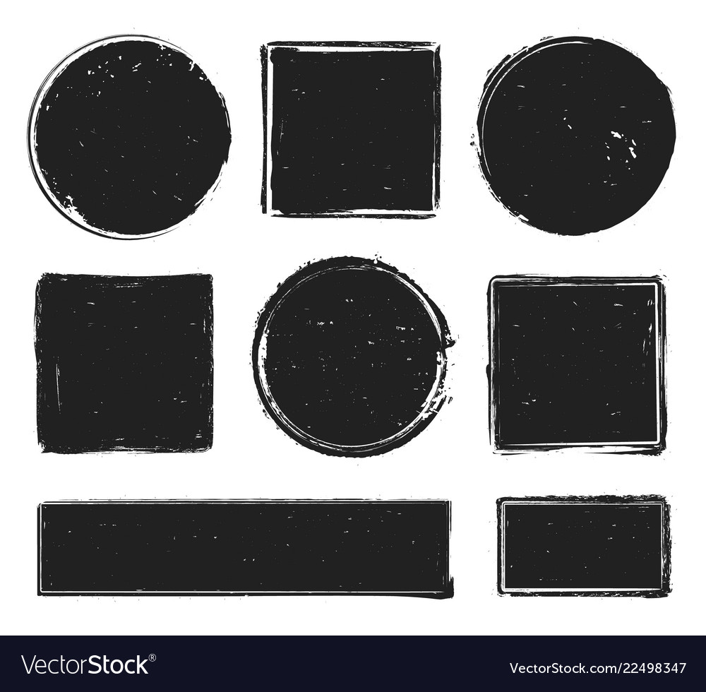 Grunge texture stamp circle label square frame