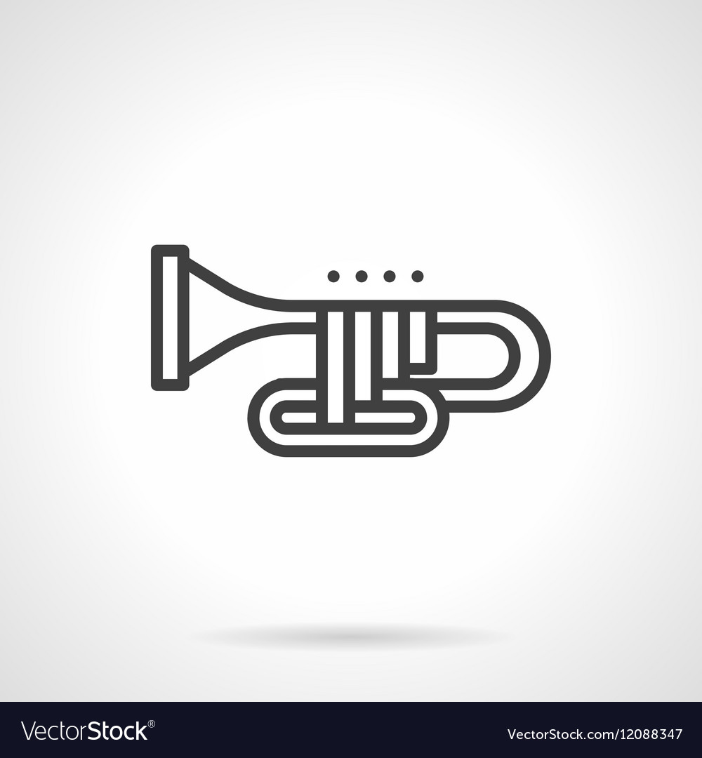 Orchestral trombone simple line icon