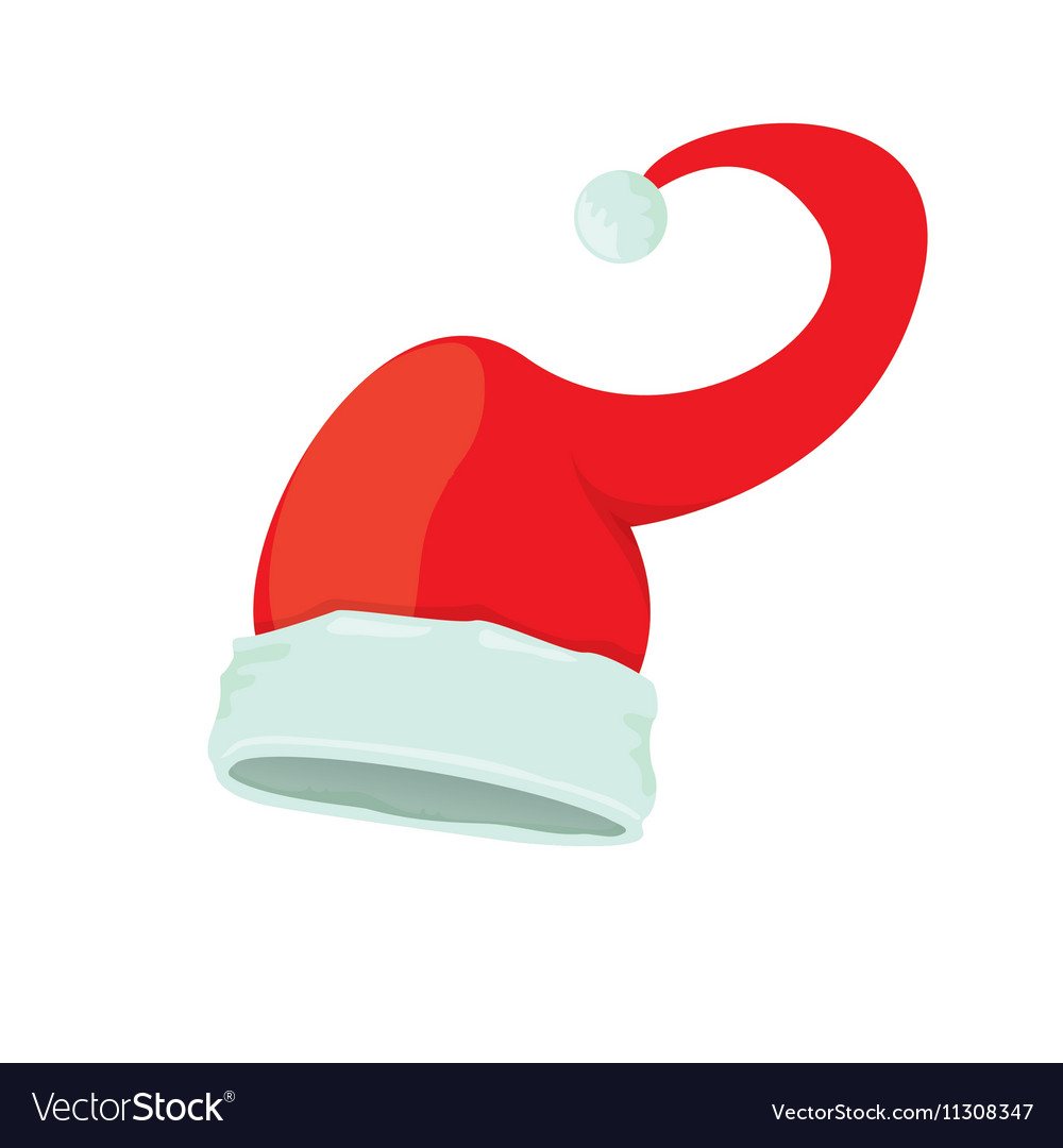 Red santa hat isolated on white background