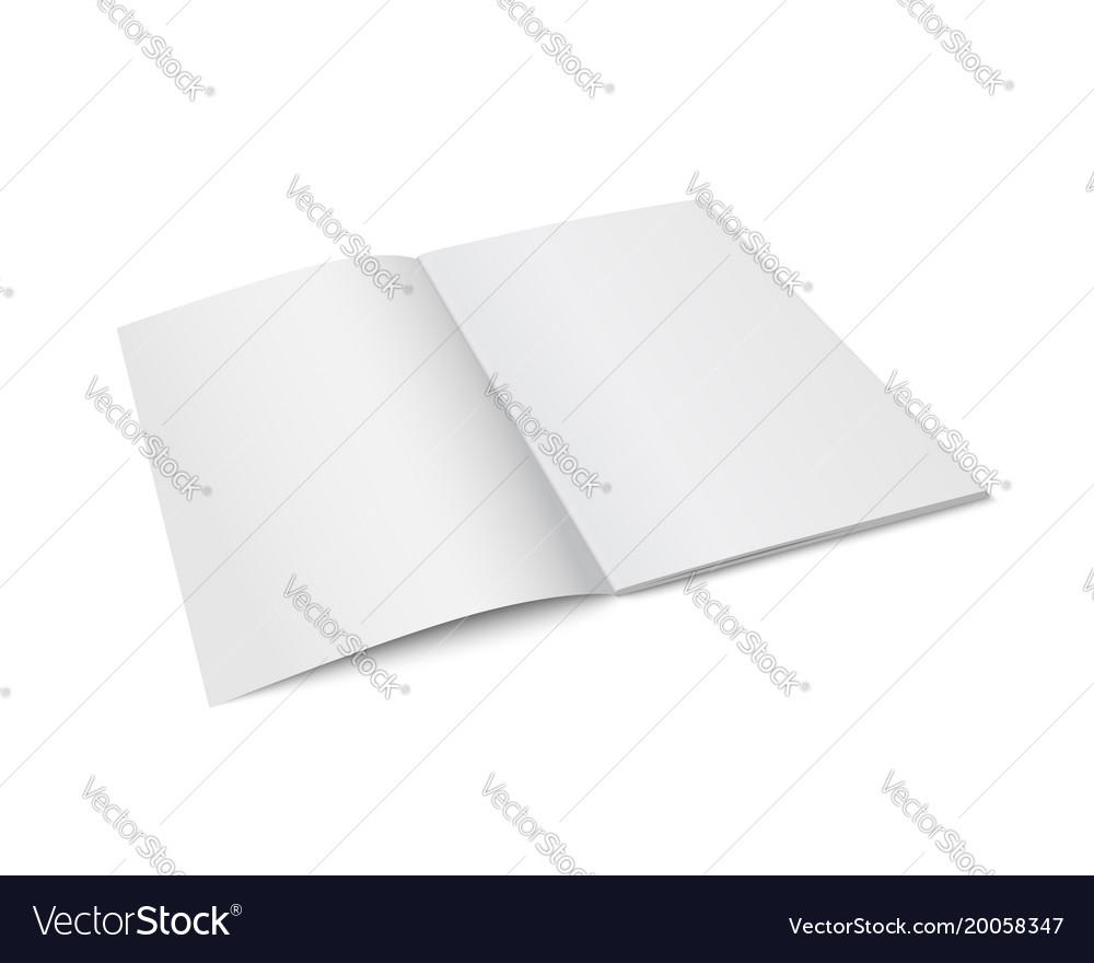 White mock up of magazine isolated
