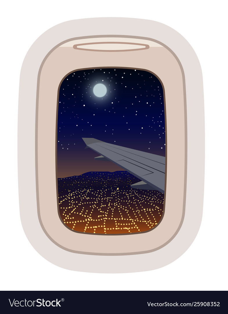 Aairplane window traveling plane and