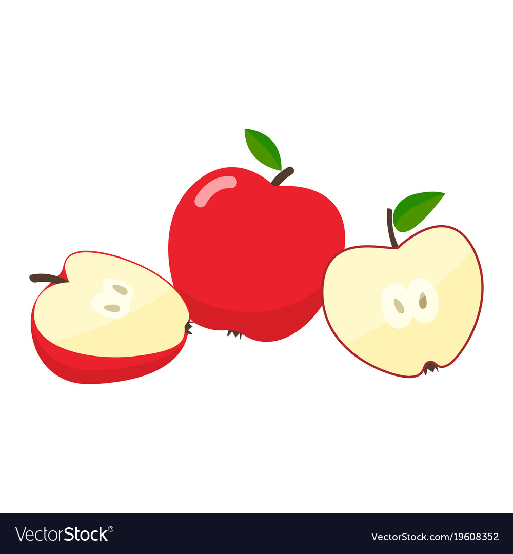 apples cartoon royalty free vector image vectorstock rh vectorstock com cartoon apples with faces cartoon appleseed