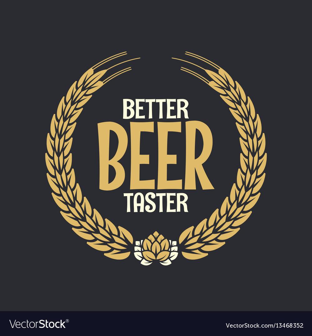 Beer label reward logo on dark background