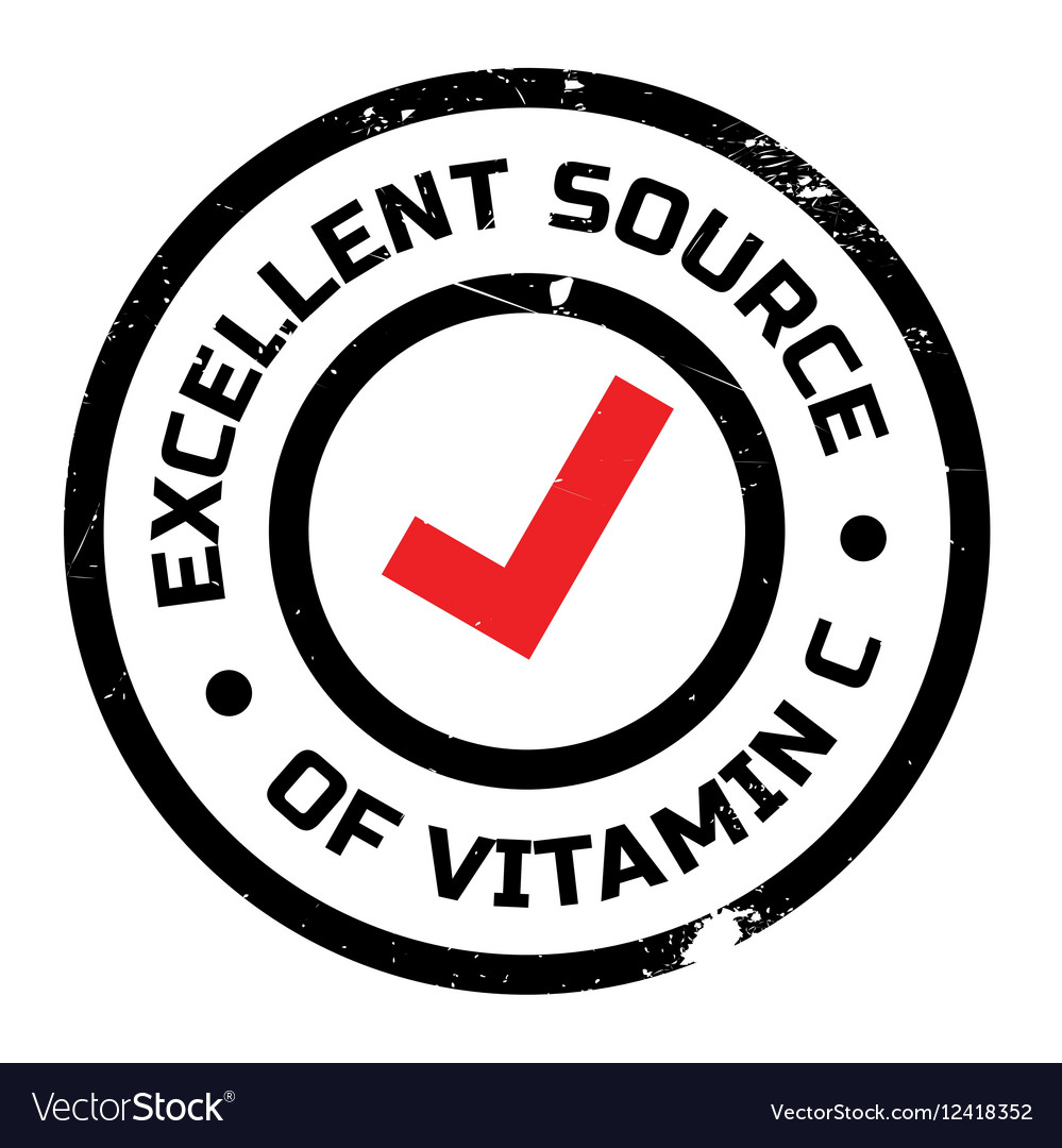 Excellent Source Of Vitamin C Stamp Royalty Free Vector