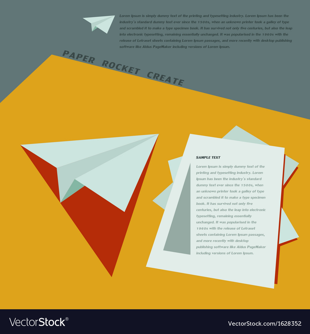 Paper Rocket Create for business template concept