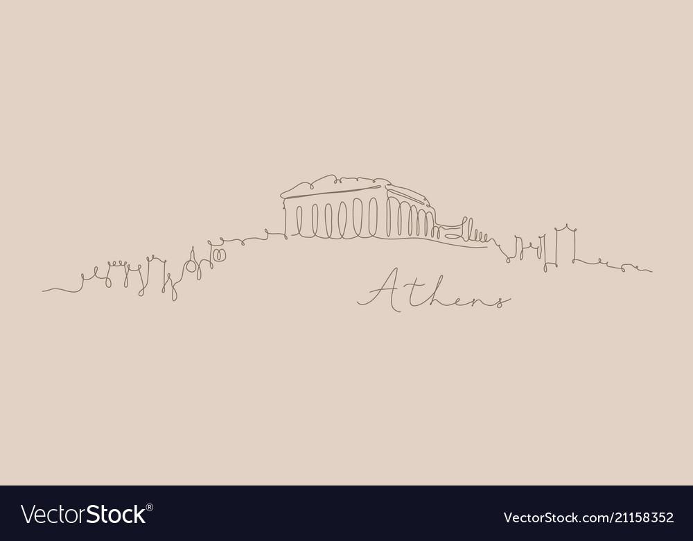 Pen line silhouette athens beige