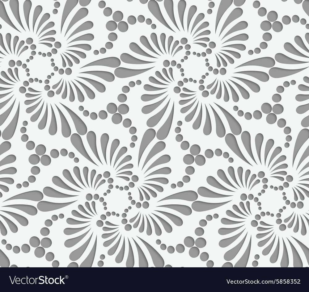 Perforated flourish tear drops six foils and dots vector image