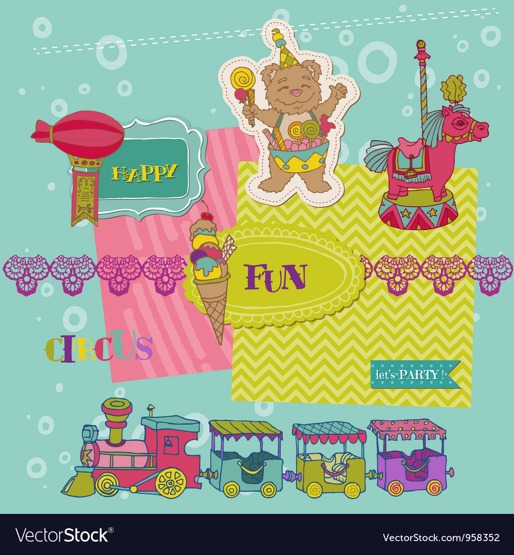 Scrapbook Design Elements - Birthday Party Child