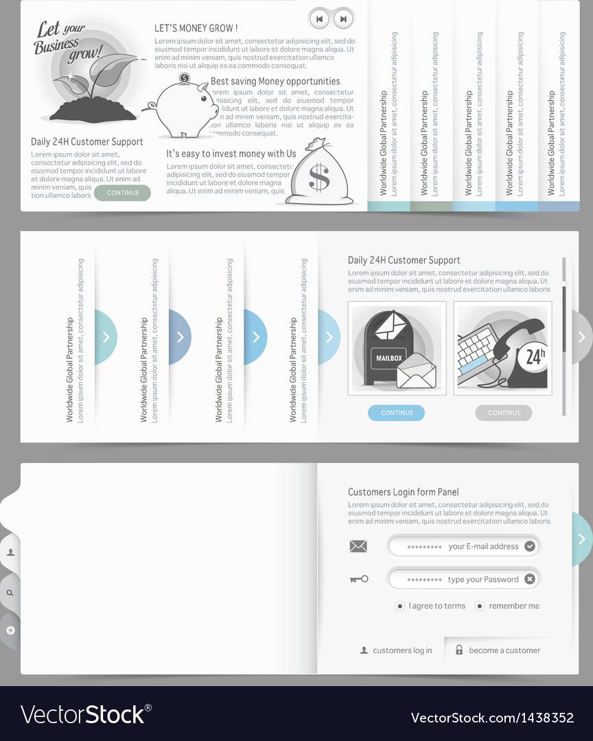 Website design menu navigation