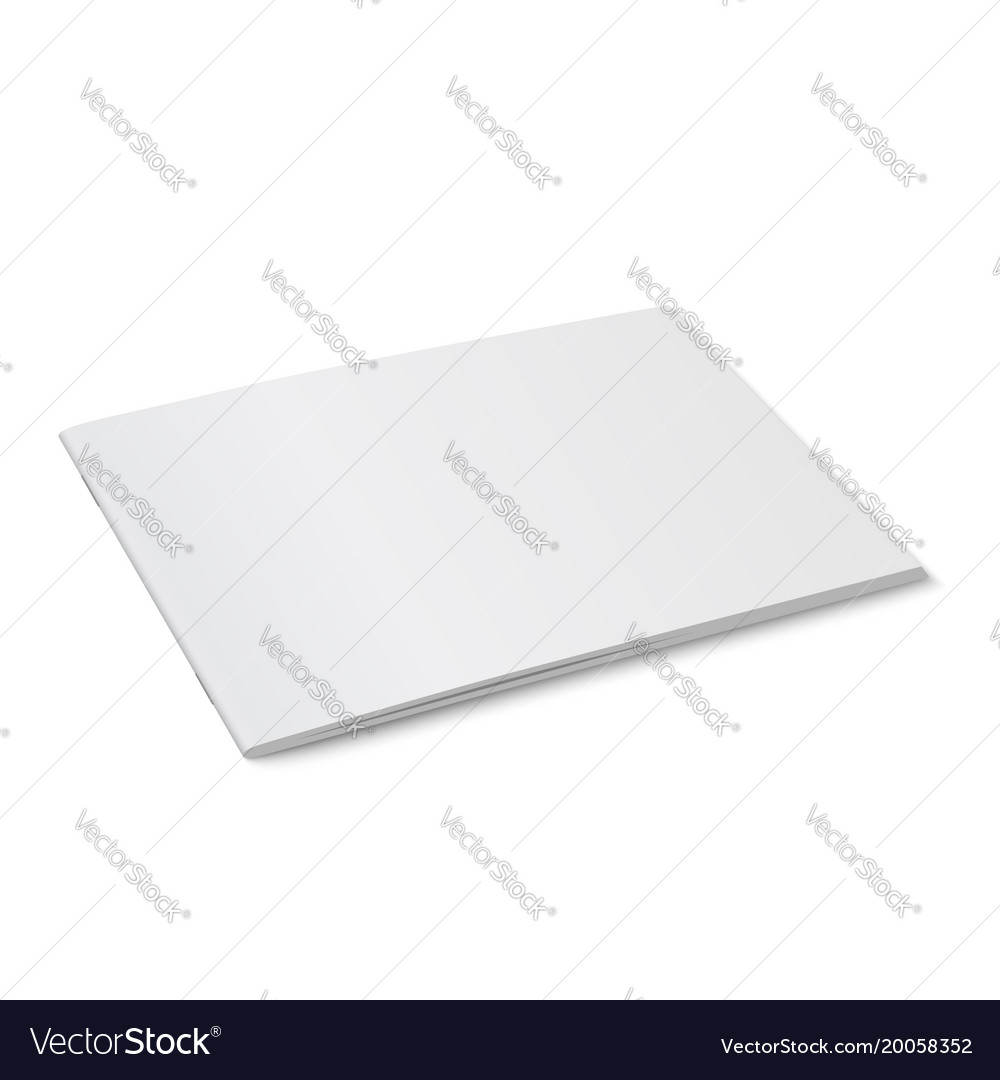 White mock up of magazine isolated