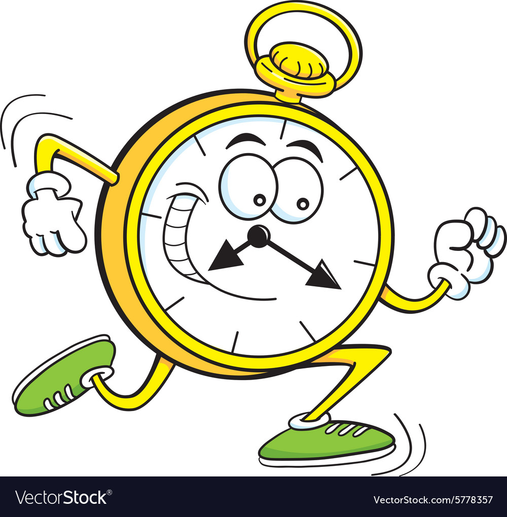 Cartoon Running Clock Royalty Free Vector Image