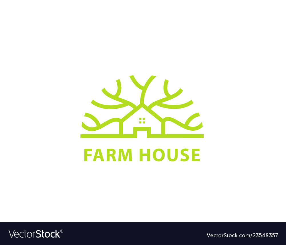 Farm house design logo