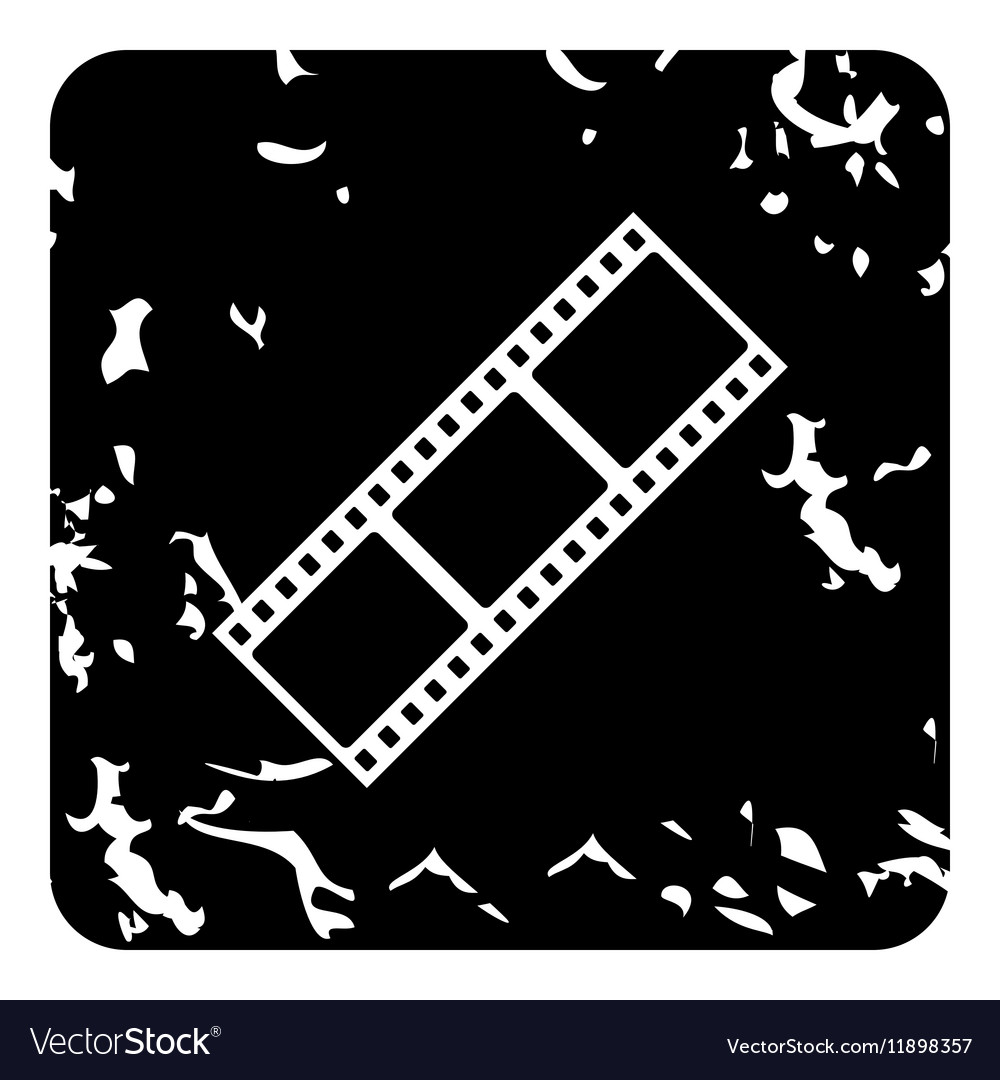 Film strip icon grunge style vector image