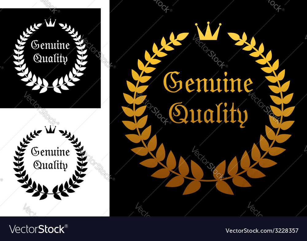 Genuine quality label vector image