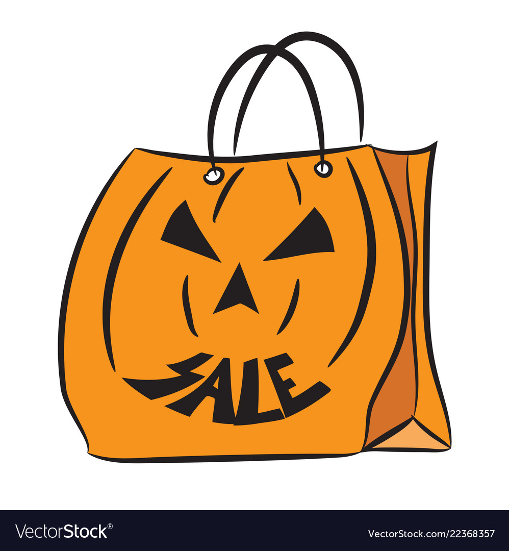 Halloween sale bag 2 vector