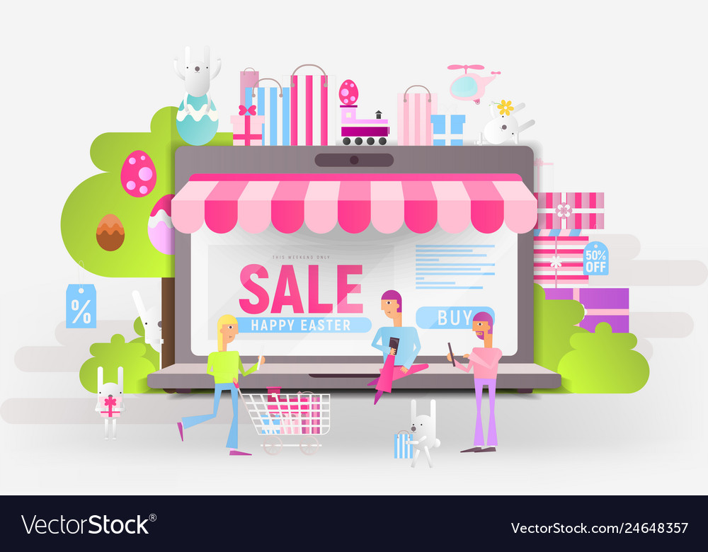 Happy easter sale