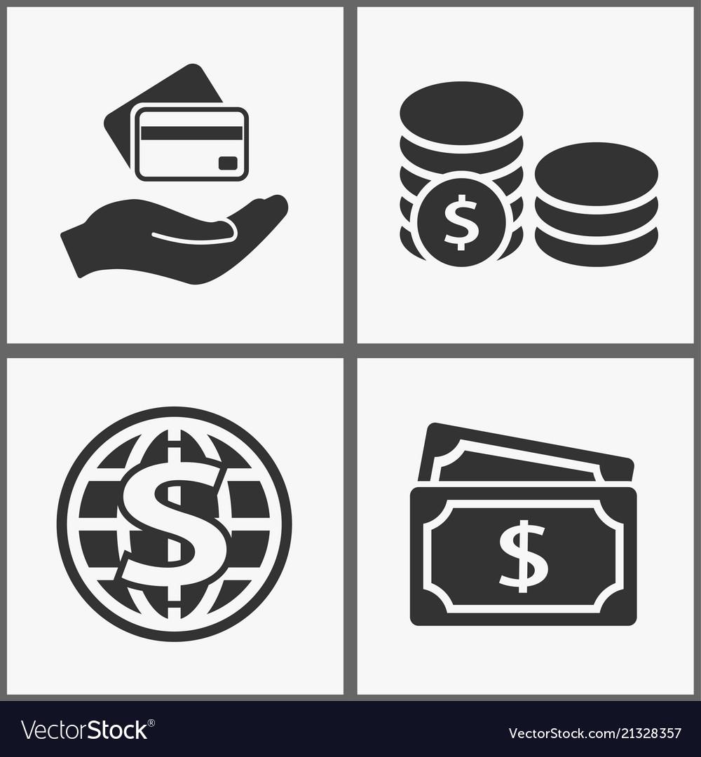 Investments money icons black