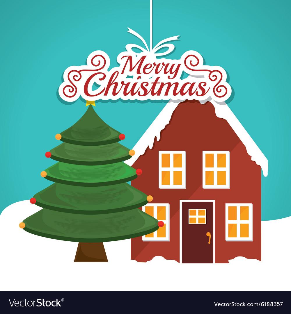 Merry Christmas Card Design Royalty