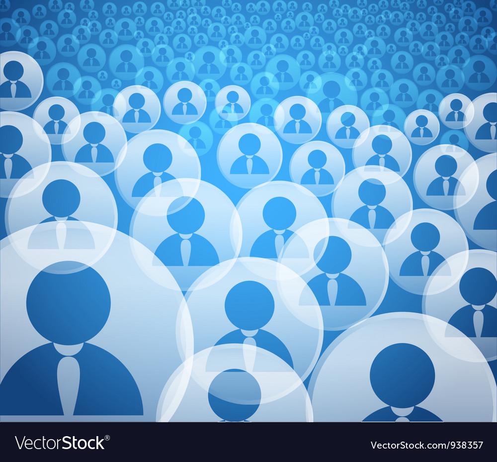 User Community vector image