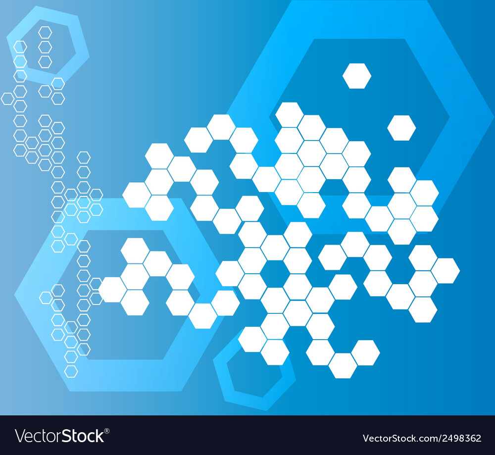 Abstract Hexagonal Shapes Background blue