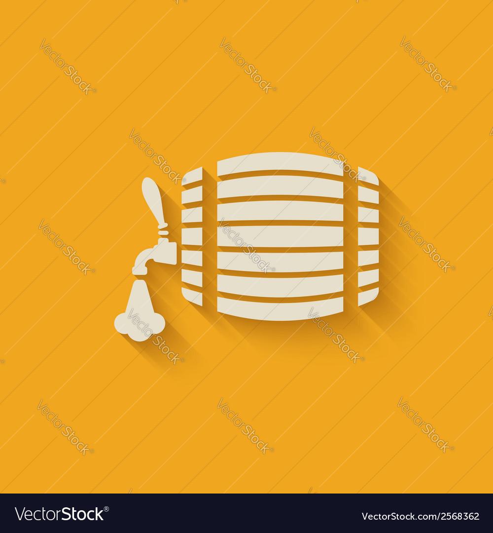Beer barrel background