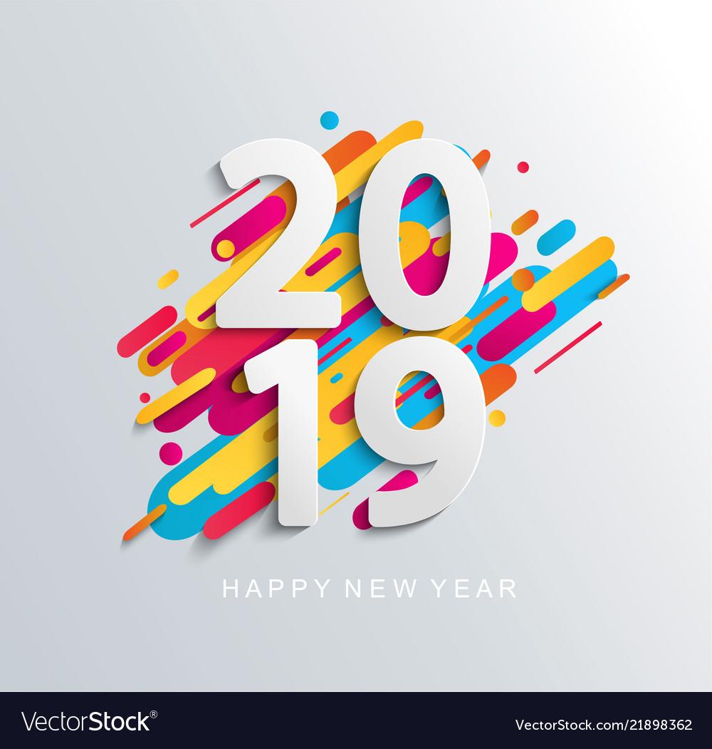 Creative happy new year 2019 banner
