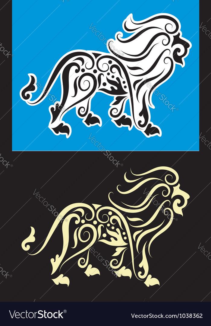 Lion cutting sticker