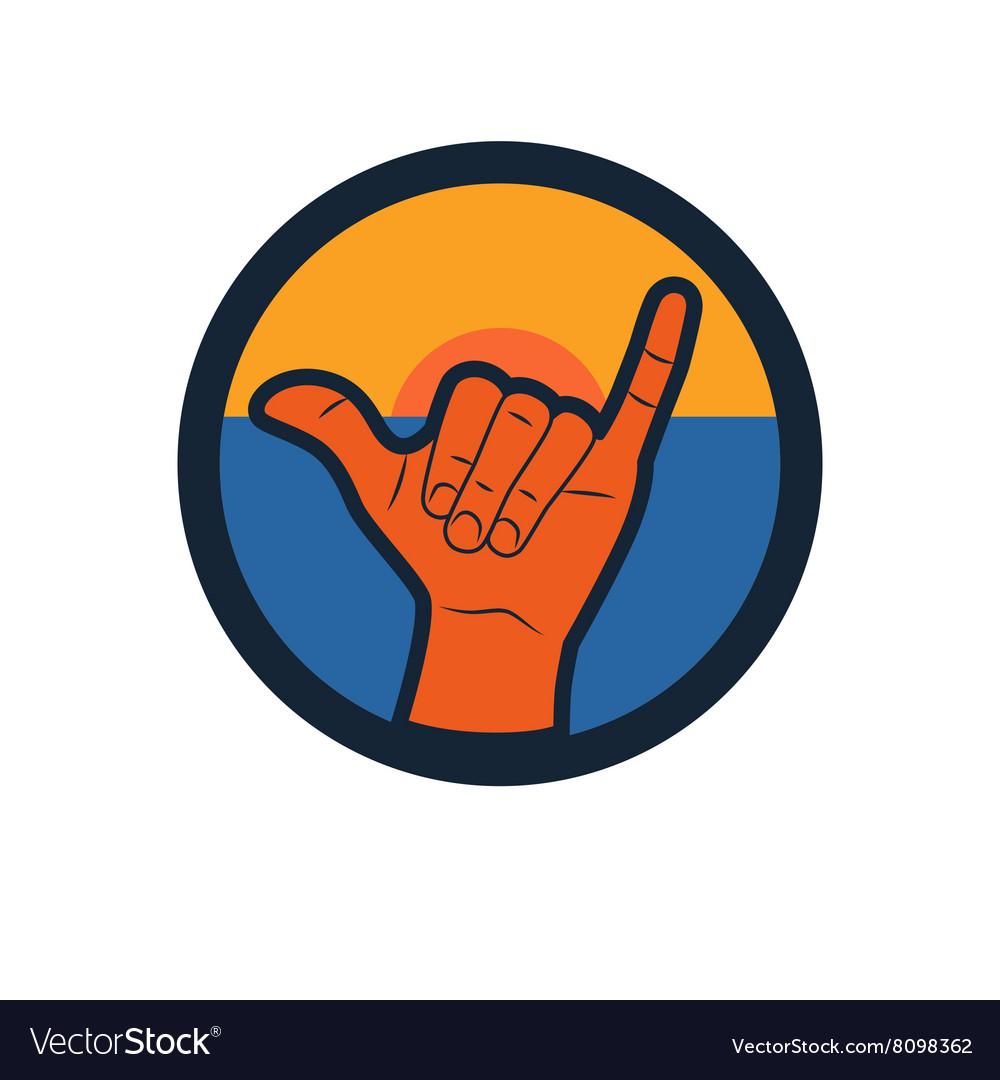 Shaka or hang loose sign gesture