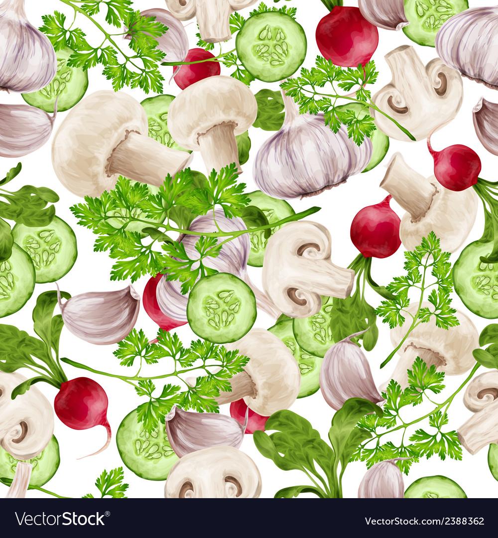 Vegetable mix seamless pattern