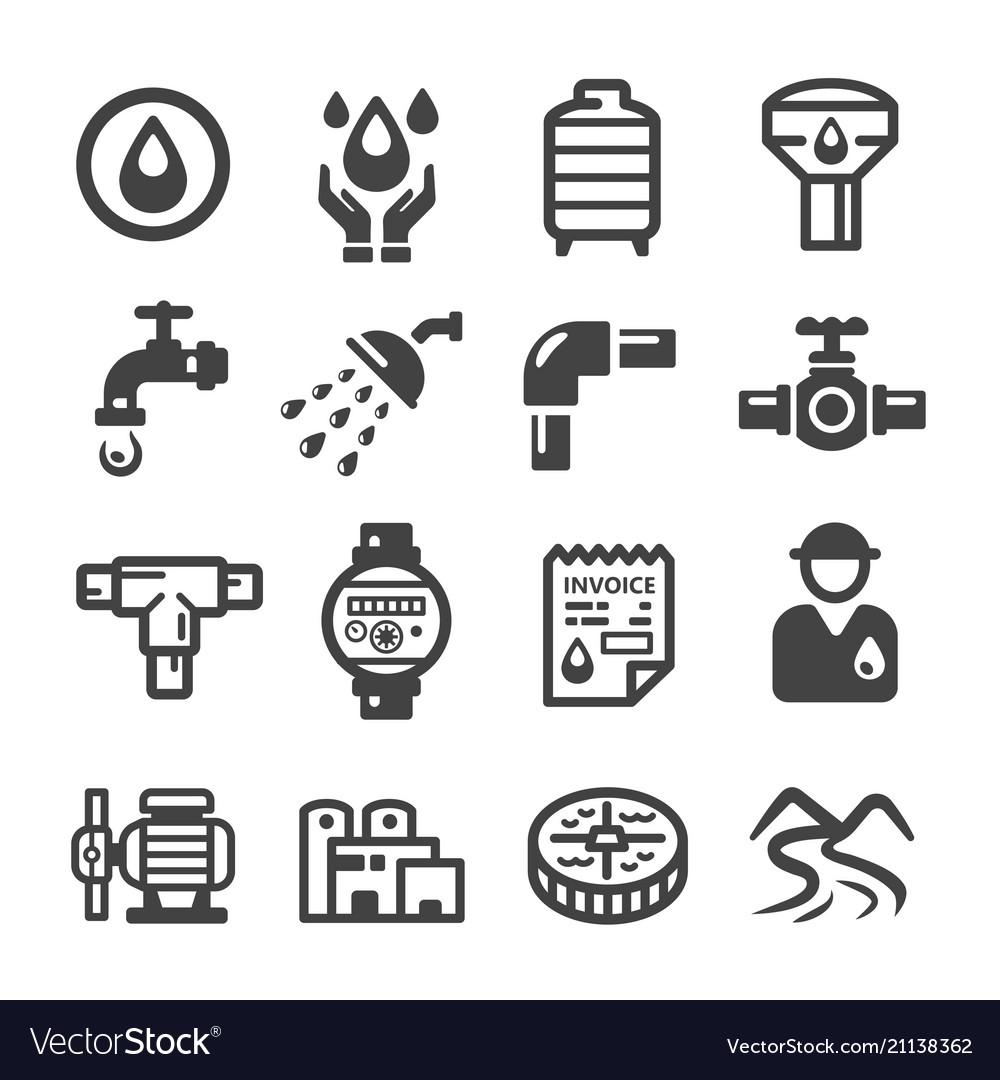 Water suppplyplumbing icon