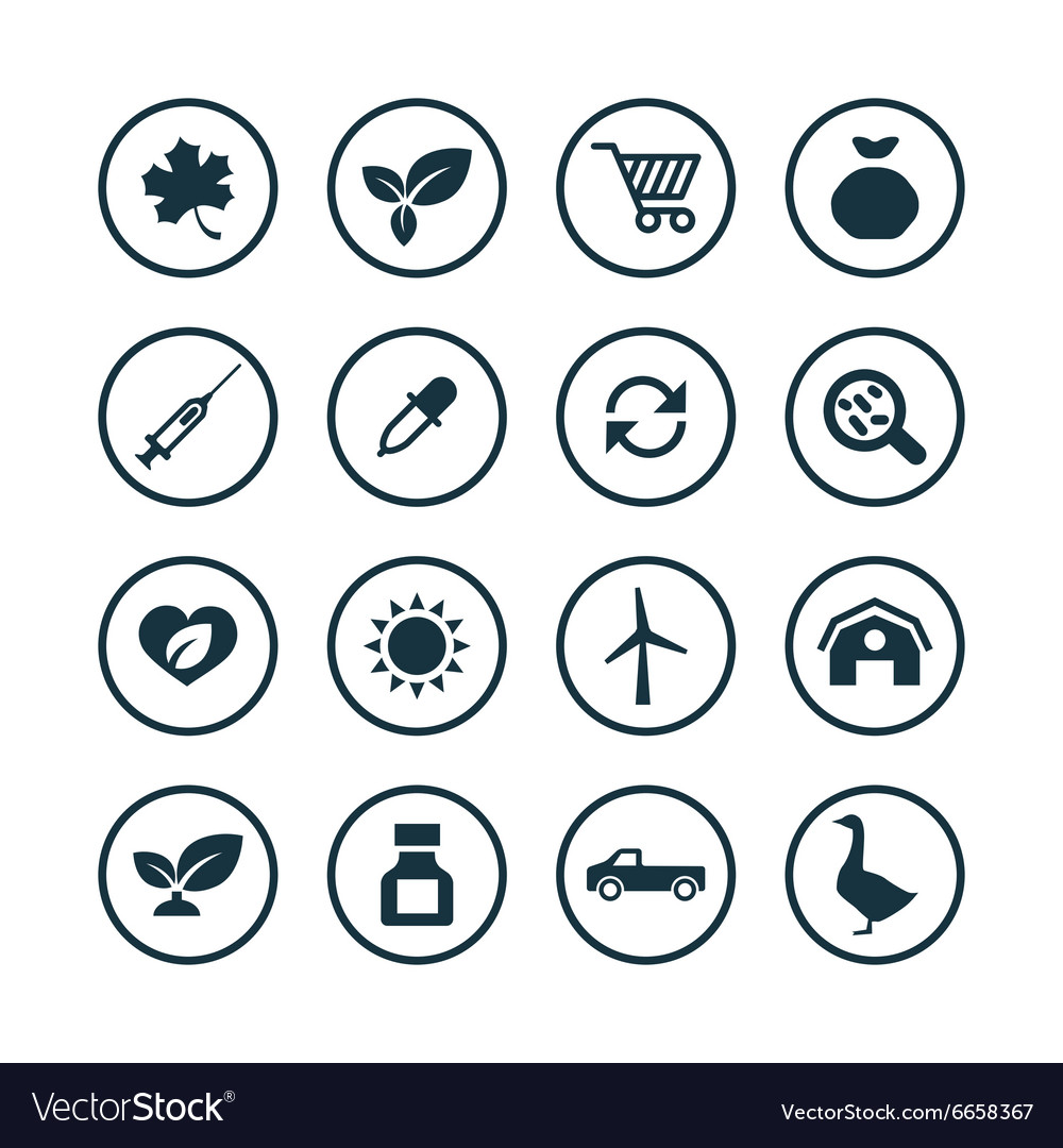 Agriculture farm icons universal set