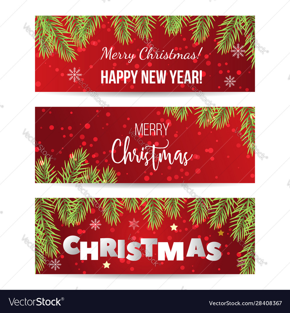 Christmas label on winter background