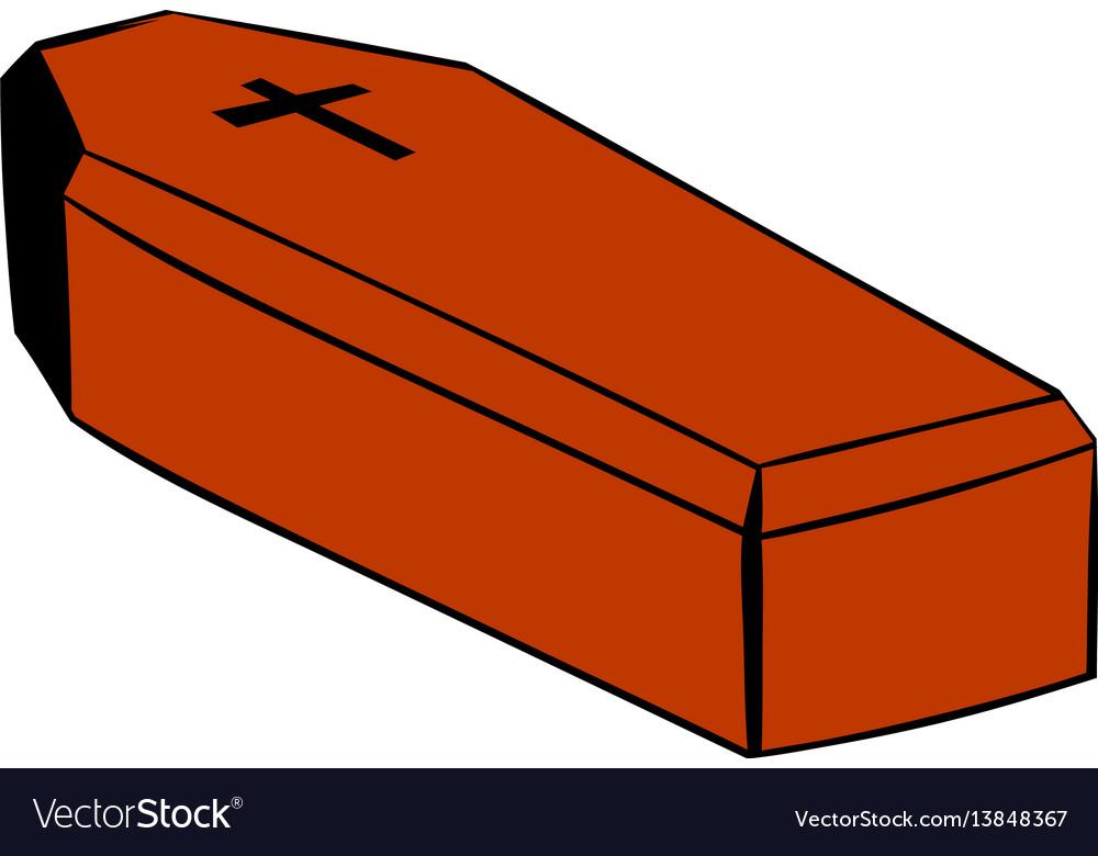 coffin icon icon cartoon royalty free vector image rh vectorstock com cartoon coffin clipart cartoon coffin drawing