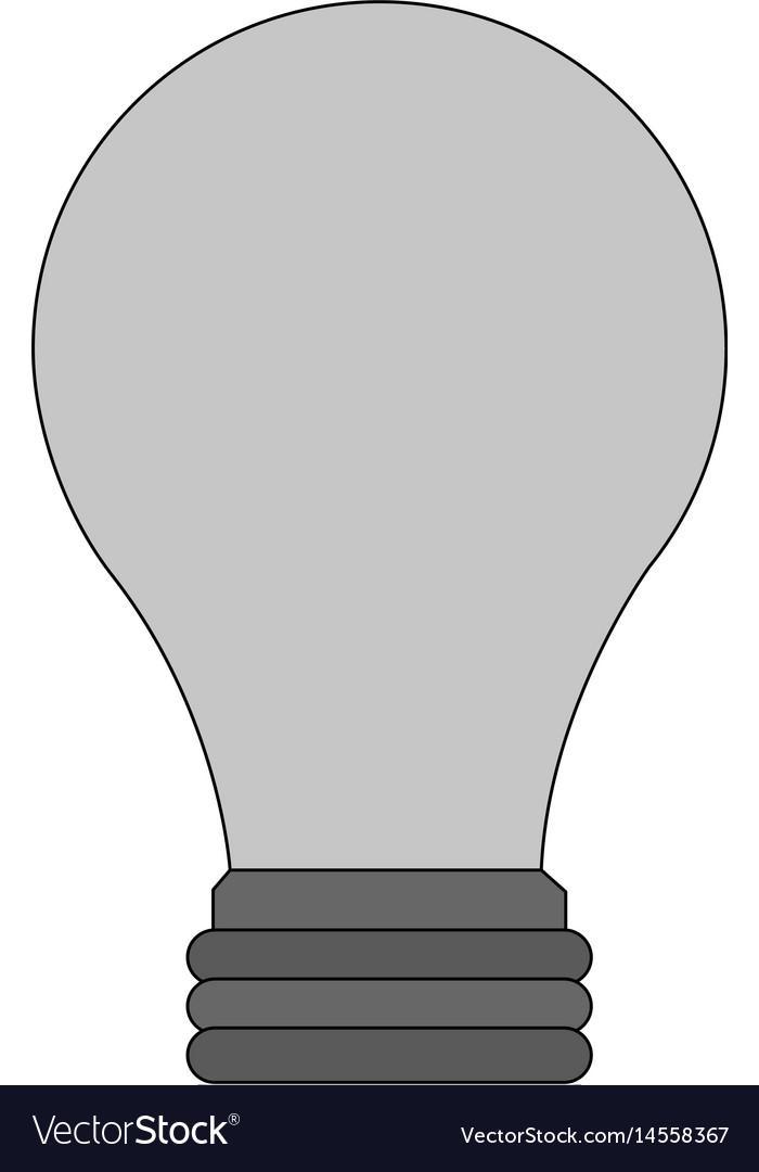 Color image light bulb off icon