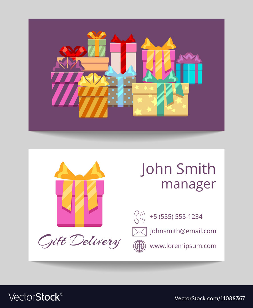 Gift delivery service business template