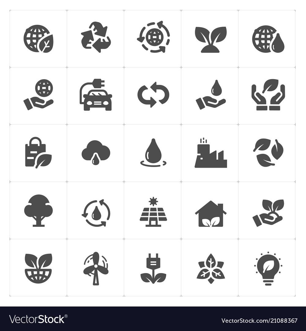 Icon set - environment filled icon style