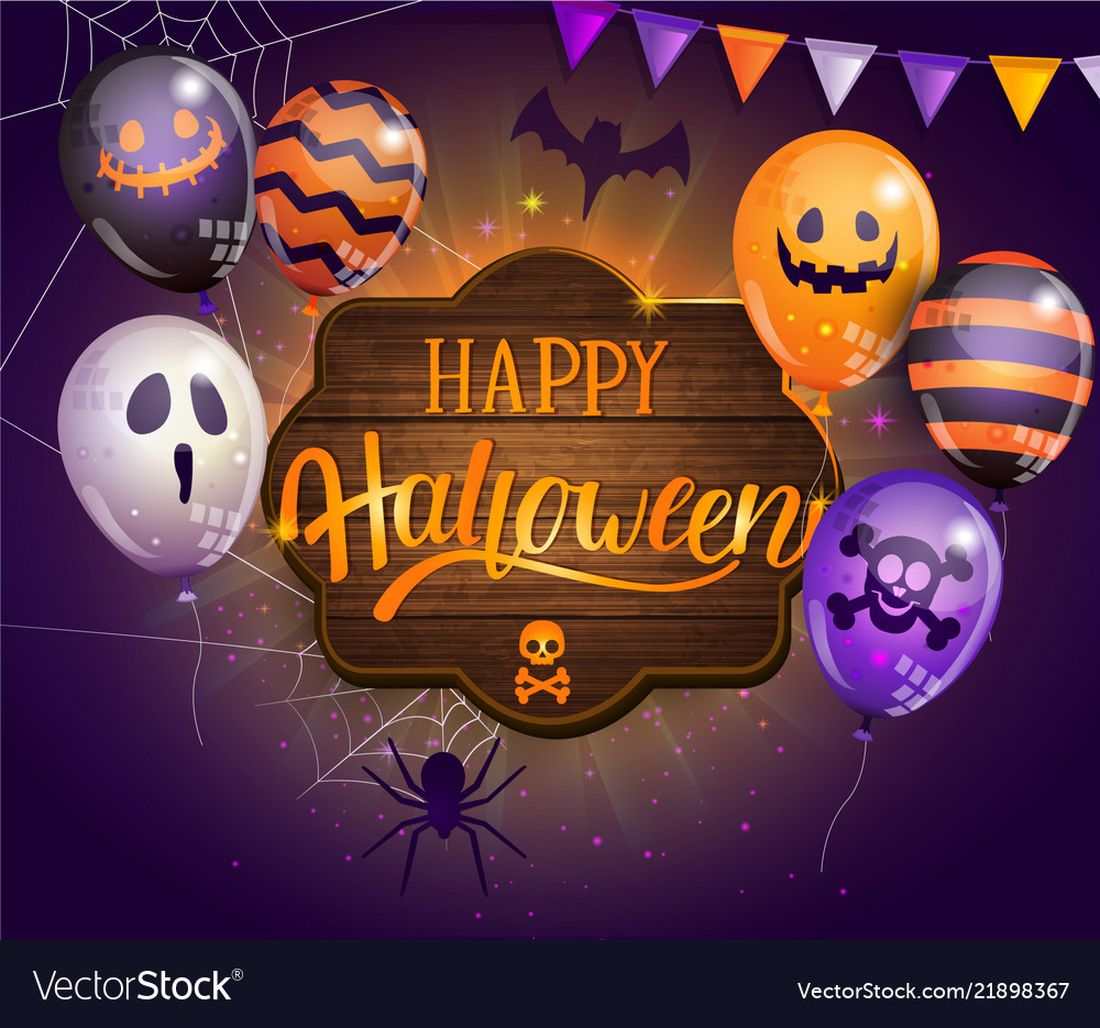 Invitation card for happy halloween party