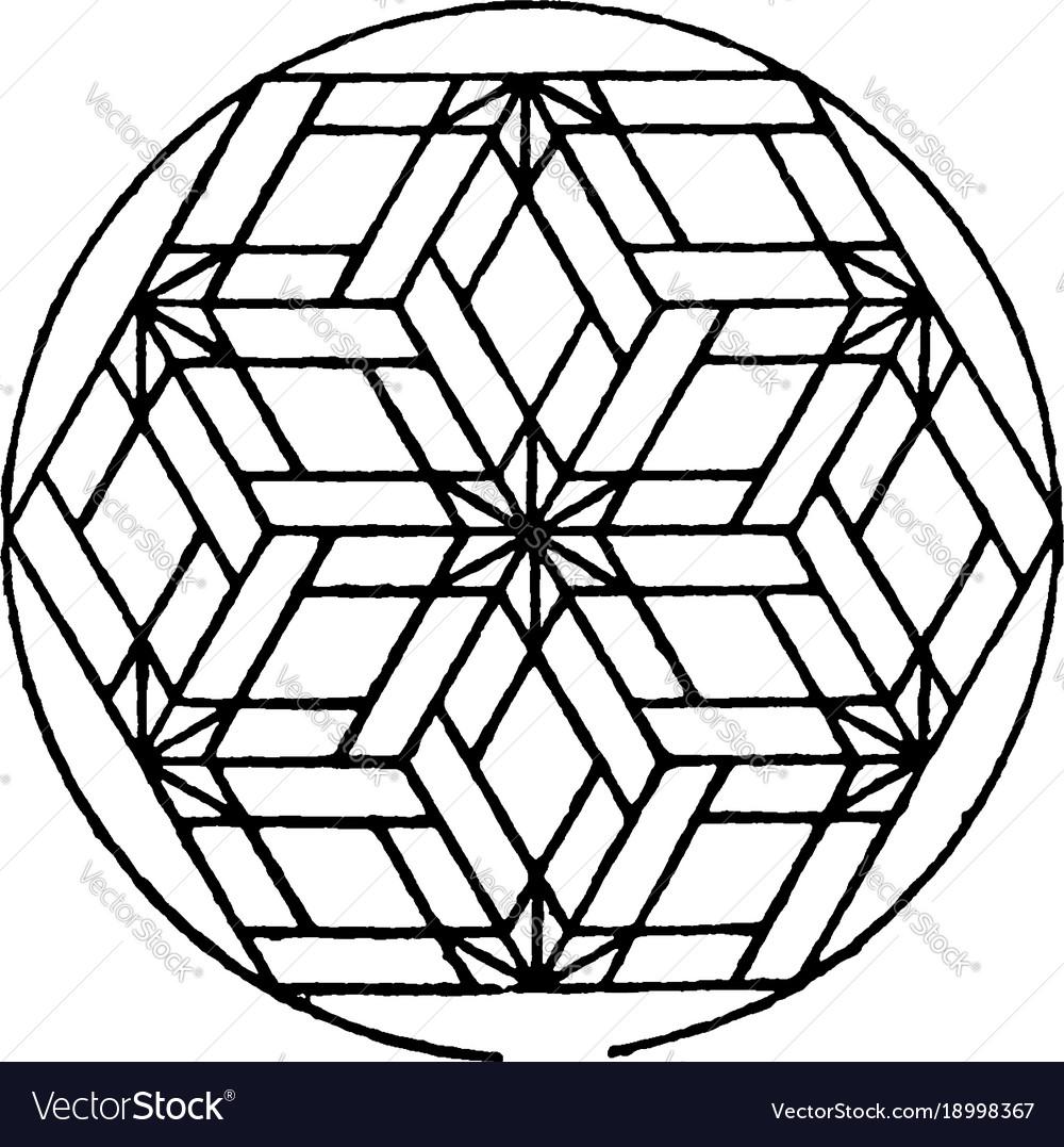 Modern hexagonal panel used for decorative