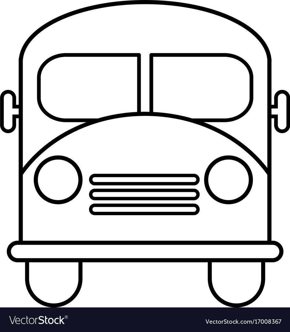 school bus icon outline line style royalty free vector image rh vectorstock com