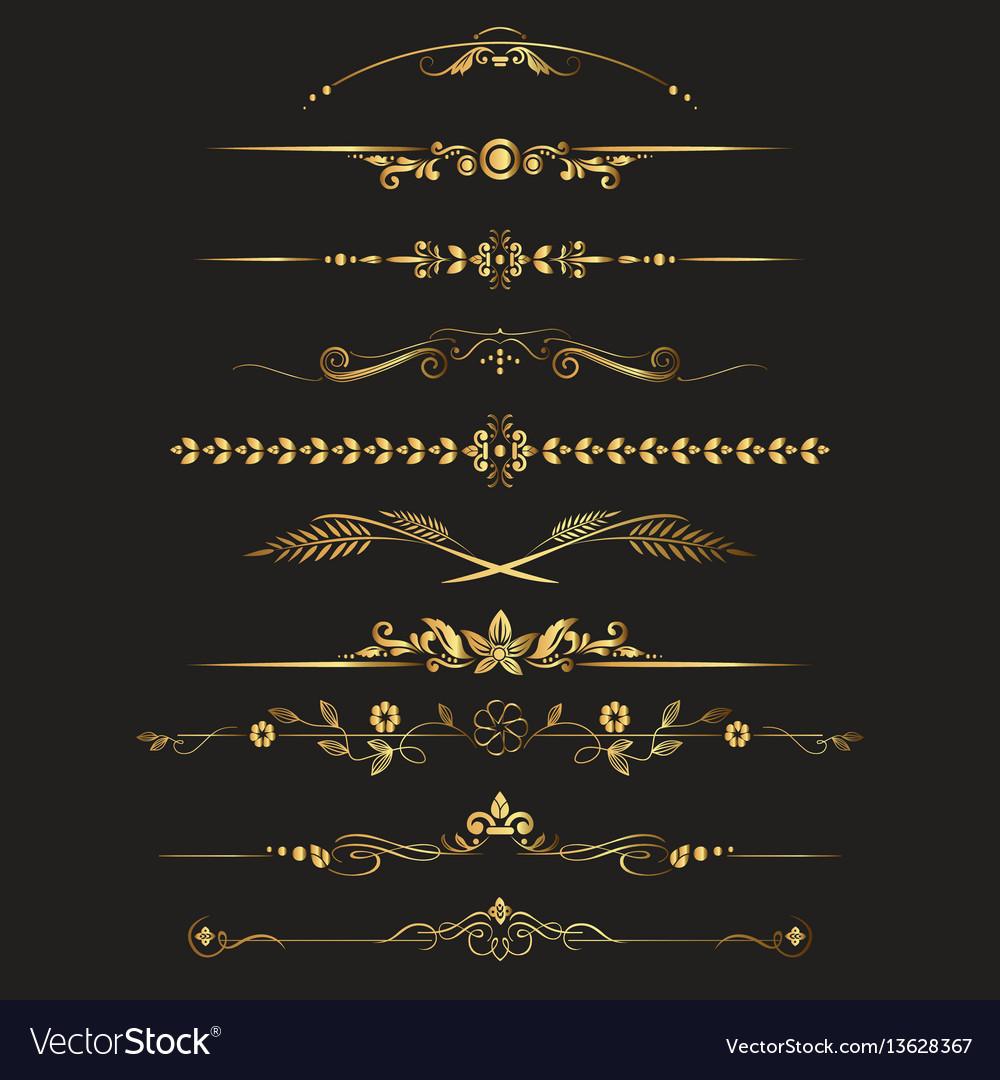 Set of ornamental vintage decorations