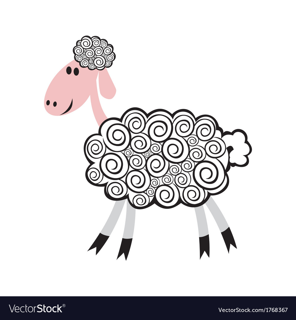 Sheep pattern Royalty Free Vector Image - VectorStock