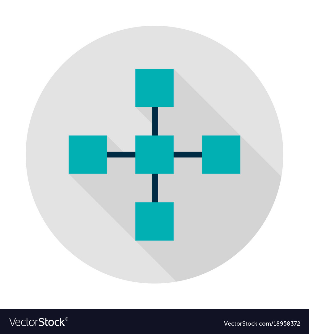 Blockchain technology circle icon vector image
