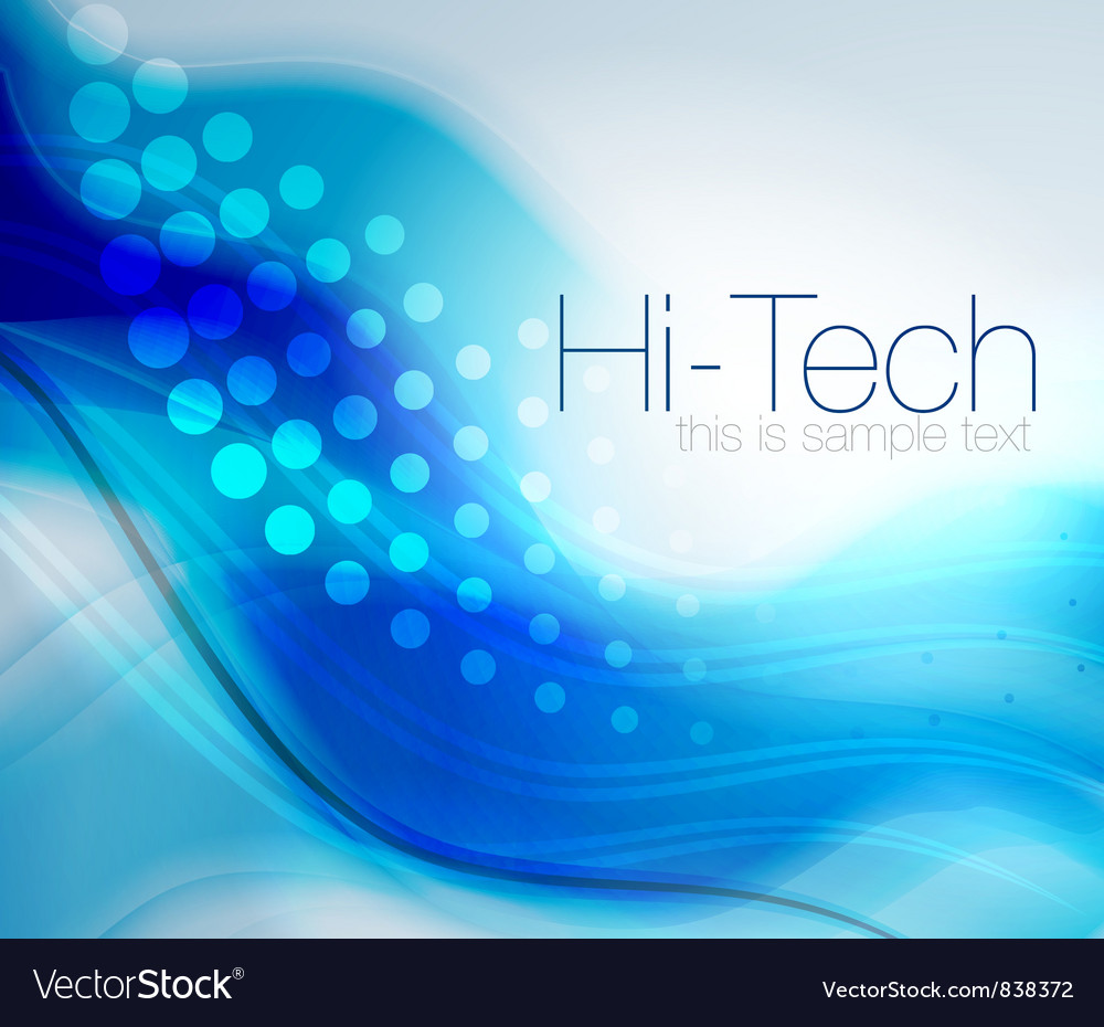 Blue energy wave abstract background