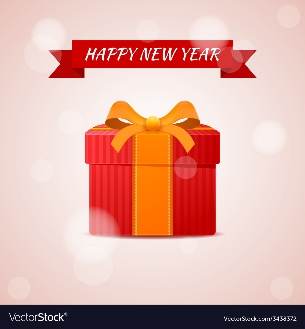 Happy new year abstract gift