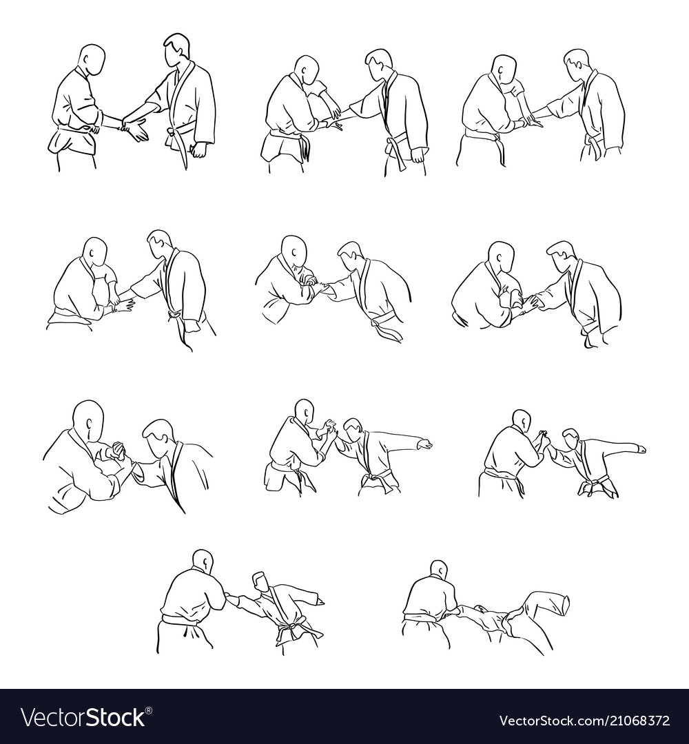 Martial arts with hand lock self defense