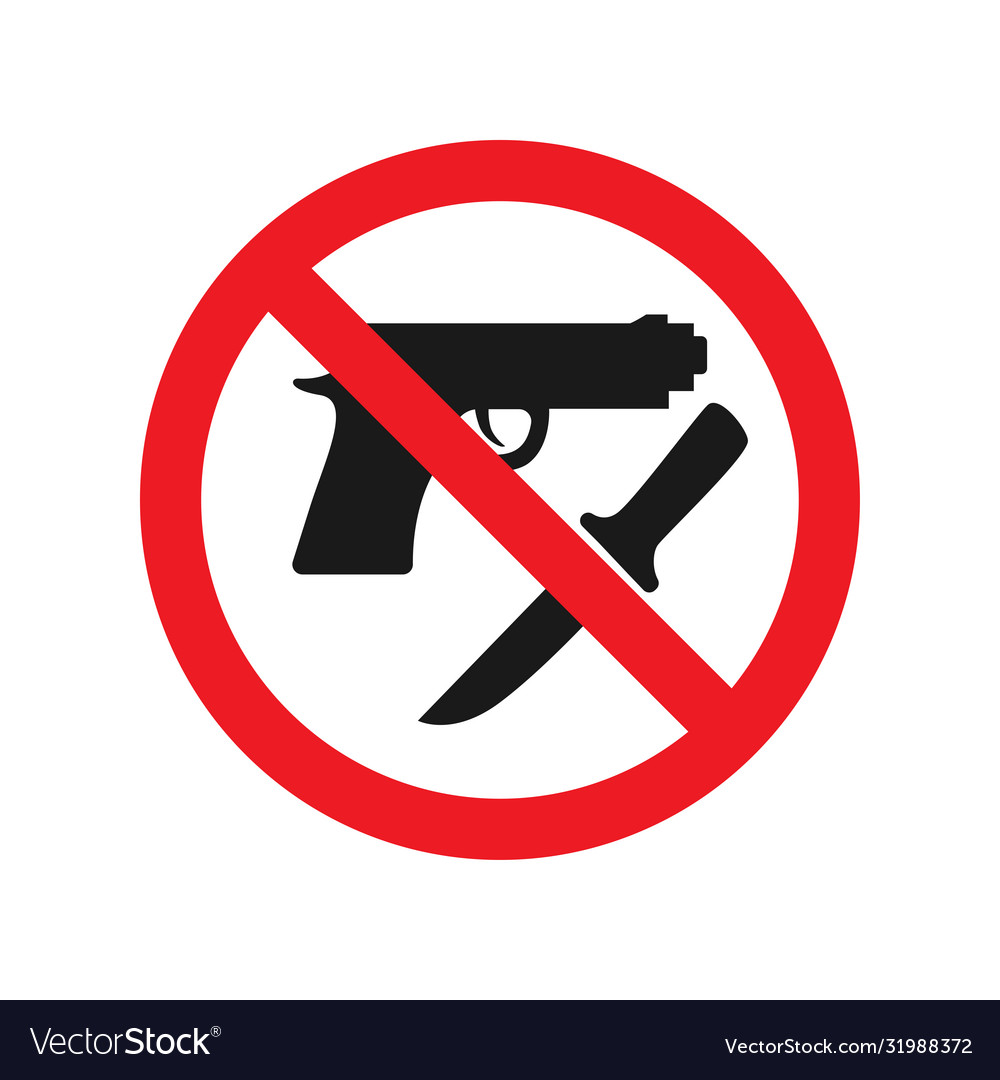 No weapons allowed sign red ban signs images
