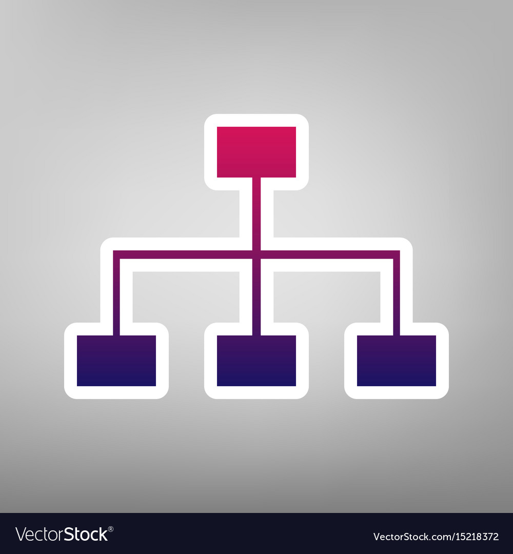 Site map sign purple gradient icon on