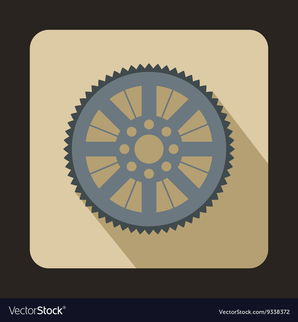 Sprocket from bike icon flat style vector image