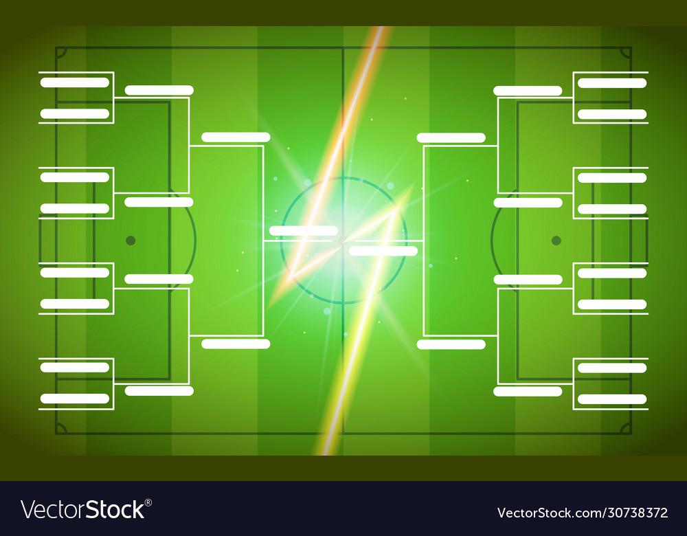 Tournament bracket template for 16 teams on green