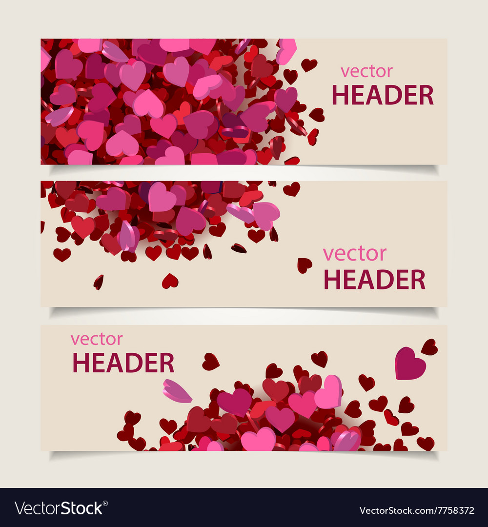 Valentine headers set